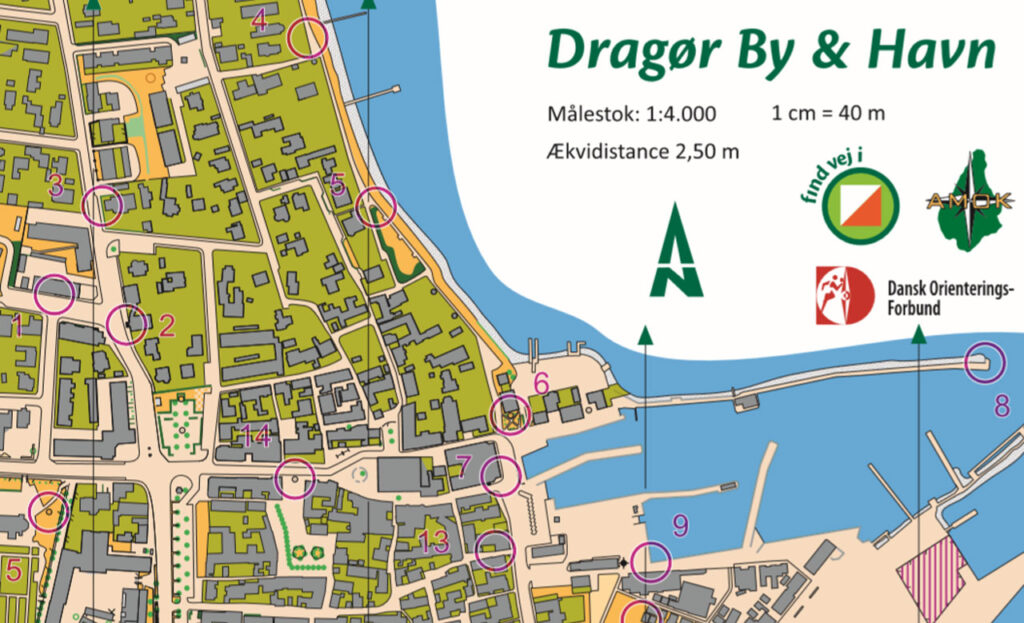 O-kortet over Dragør er et orienteringskort i størrelsesforholdet 1:4.000, der er tegnet specifikt til sprintorienteringsløb.